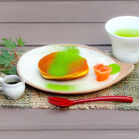 抹茶生どら焼(お茶セット)